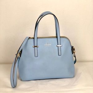 Kate Spade Cedar St Maise blue leather handbag